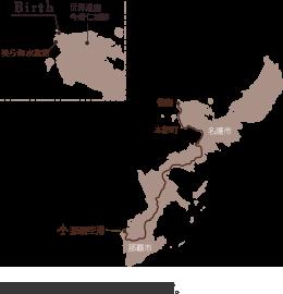 沖縄本島 備瀬 Birth the suite へのアクセスマップ