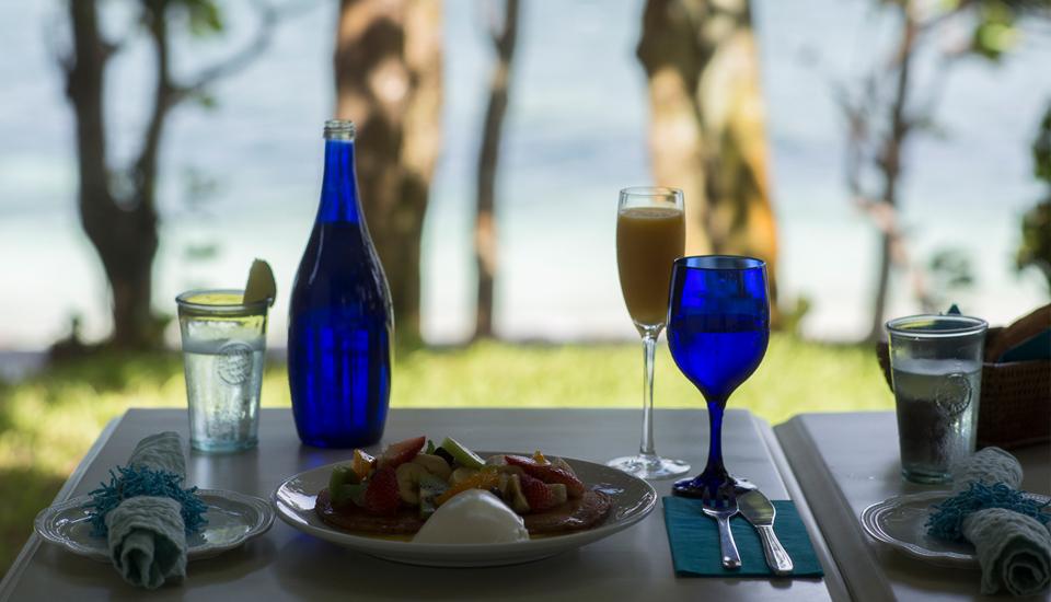 海辺の最高の朝食