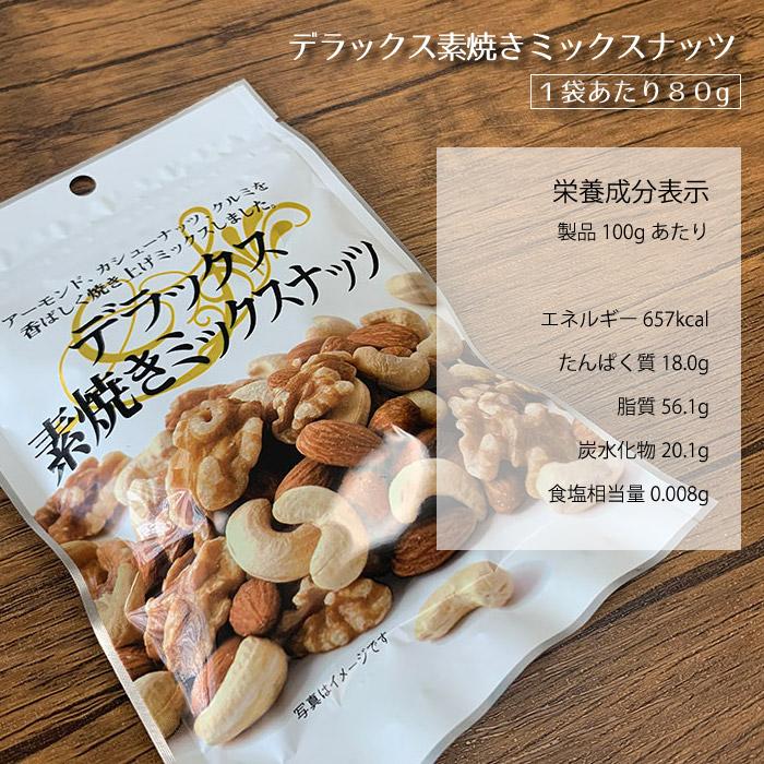 デラックス素焼きミックスナッツ 栄養 豆屋